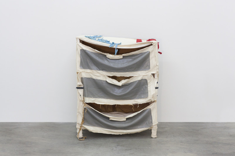"Slippery Drawers, Latex and wood, 38 x 30 x 15"", 2013"