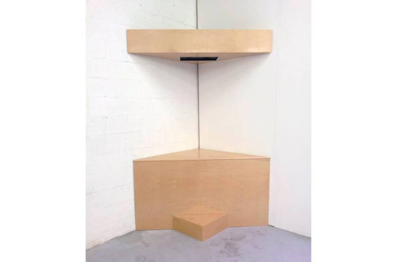 PDA, Single-channel video installation with wood, Dimensions variable, 2012