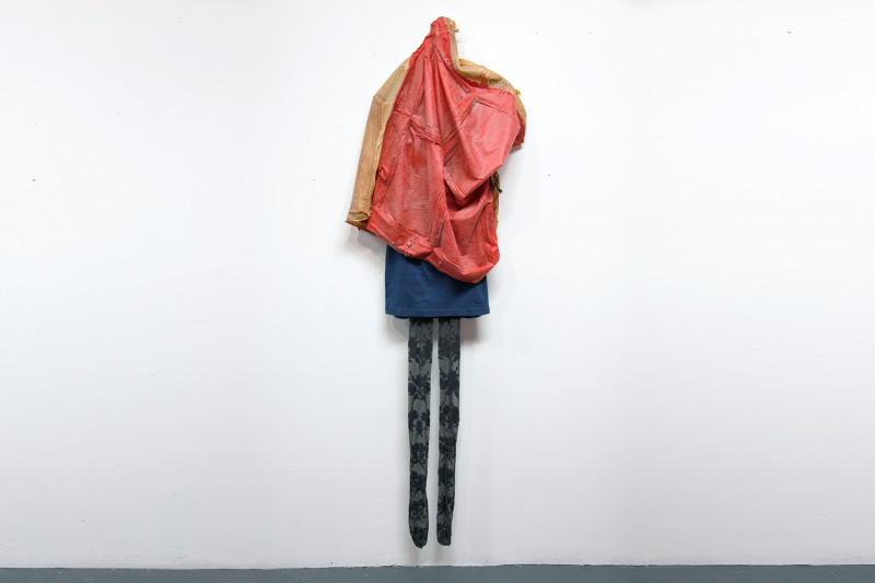 "That's cute, Latex, cotton, nylon, 75 x 30"", 2011"