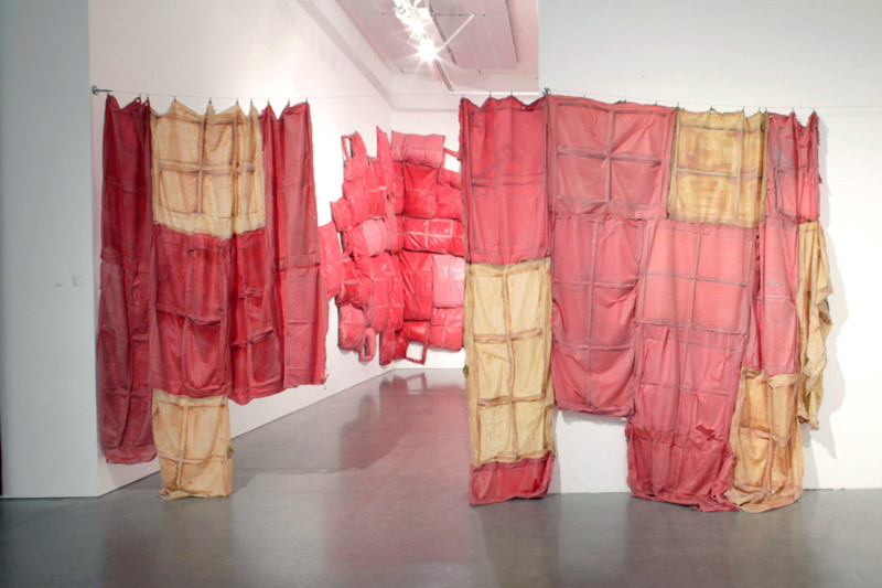 Window Dressing, Latex, hardware, Dimensions variable, 2012
