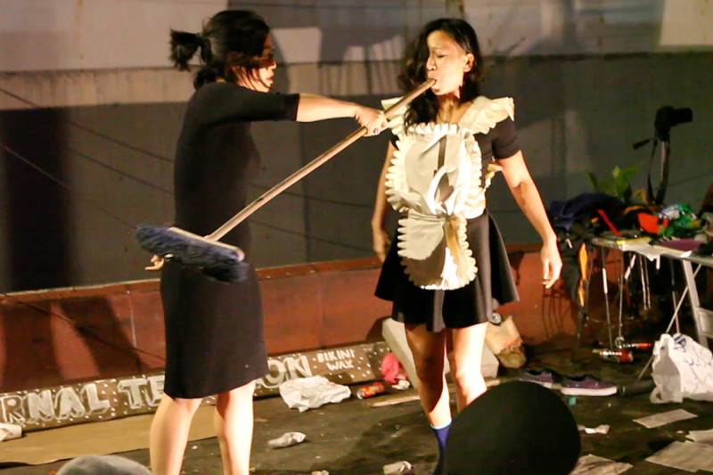 Art Scene II, performance with Christine Wang, 2015 (photo documentation)