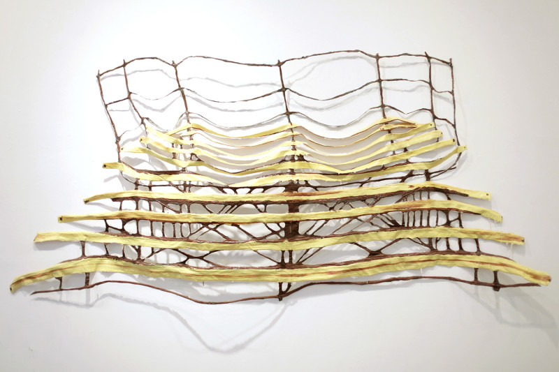 "Captive Audience, Latex and wire, 104 x 48 x 2"", 2015"