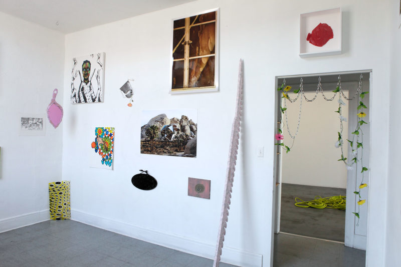 Installation view (traded pieces w/chain installation)