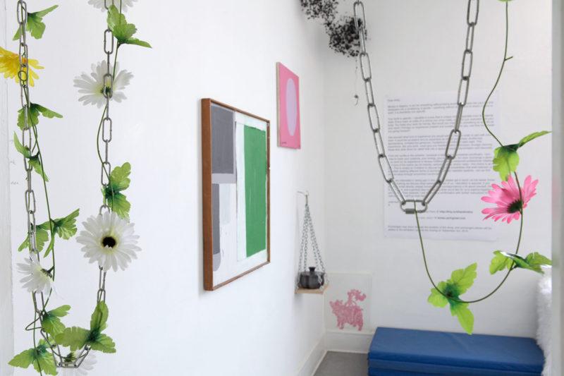 Installation view (entrance w/chain installation)